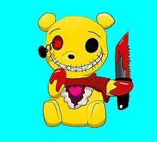 Winnie the killer pillow by kieyRevange