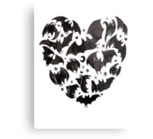 Bat Heart Metal Print