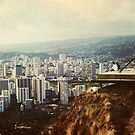 Waikiki from Diamond Head by Melinda  Ison - Poor