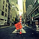 Road Work Manhattan by Melinda  Ison - Poor