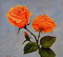 Roses in Bloom by Roseann Gilmore