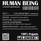 Human Being Shipping Label by Samuel Sheats