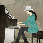 Piano Player by Janet Carlson