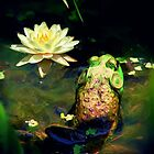 *Frog & Lily Photo Painting* by Darlene Lankford Honeycutt