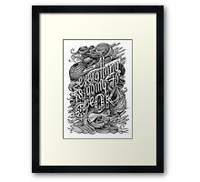 Everything is going to be OK Framed Print