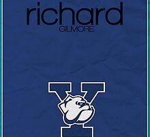 Gilmore Girls minimalist poster, Richard Gilmore by hannahnicole420