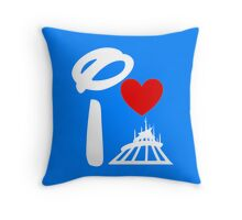 I Heart Space Mountain (Inverted) Throw Pillow