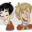 Merlin and Arthur by quietsnooze
