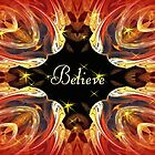 Believe ~ Throw Pillow by Marie Sharp