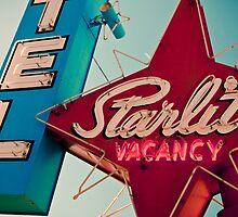 Vintage Las Vegas Starlite Motel Sign by PoteetPhoto