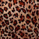 Leopard Spots Wild Cat Faux Fur by Val  Brackenridge