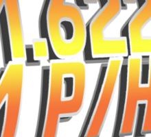 BTTF in Metric Sticker
