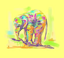 Pillow baby elephant in color by Go van Kampen
