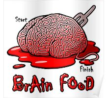 Maze Shirts: Brain Food Poster