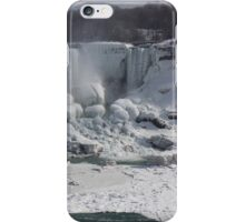 Niagara Falls Ice Buildup - American Falls, New York State, USA iPhone Case/Skin