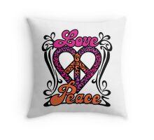 Love Peace Heart Throw Pillow