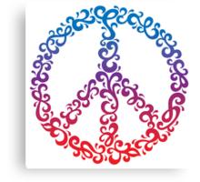 Floral Peace Symbol Canvas Print