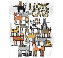 I Love Cats_For All Colors Poster