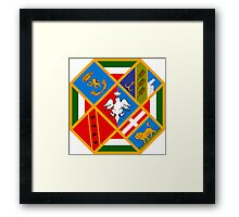 Coat of Arms of Lazio Region, Italy Framed Print