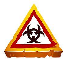 virus hazard sign by Voysla
