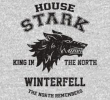 Team Robb Stark (Black) Kids Clothes