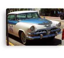 Miami Beach Classic Car Canvas Print