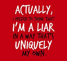 """. . . I'm a liar in a way that's uniquely my own."" Jace Quote by wessaandjessa"