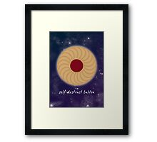 Doctor Who - Self-Destruct Button Framed Print