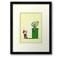 Mario and Carnivine Framed Print