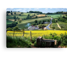 Midsummer Smoke In An English Valley Canvas Print