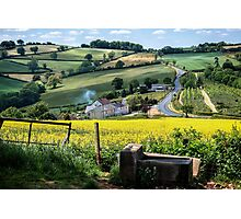 Midsummer Smoke In An English Valley Photographic Print