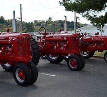 Red Tractors by lorraineyork