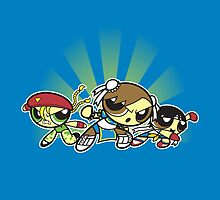 Fighter puff girls!  by coinbox tees