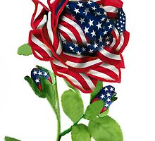 .♥➷♥•* Stars & Stripes Rose For 9-11 In Rememberance Throw Pillow.♥➷♥•*¨ by ✿✿ Bonita ✿✿ ђєℓℓσ