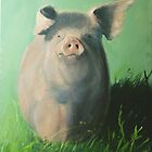 Pig in the grass by Carole Russell
