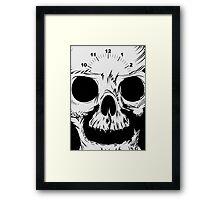 Smile NOW - Time's TICKING OUT! Skull Framed Print
