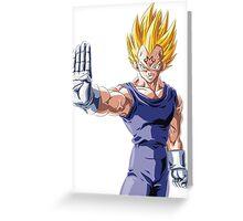 Dragonball Z Vegeta Greeting Card