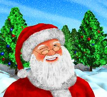 Winking Santa by Packrat