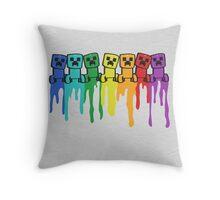 Rainbow Creep Throw Pillow