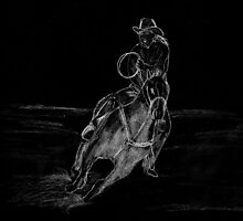 Cowboy Riding by Packrat