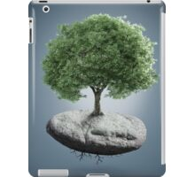 Tree on suspended rock iPad Case/Skin