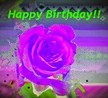 Purple rose birthday card by ♥⊱ B. Randi Bailey