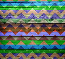 Chevron Zigzag Pattern on Wood Texture by Nhan Ngo
