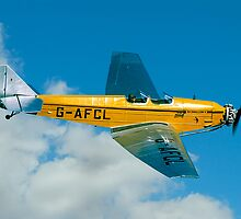 BA Swallow II G-AFCL banking by Colin Smedley