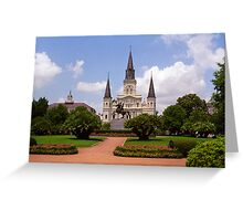 New Orleans - Andrew Jackson Square Greeting Card