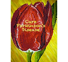 Tulip Painted- Cure Parkinson's Disease Photographic Print