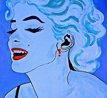 Some Like it Hot in Blue Pop  by Saundra Myles