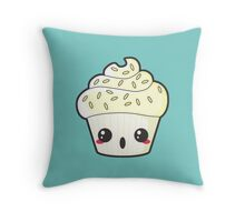 Spooky Cupcake - Ghost Throw Pillow
