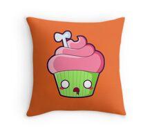 Spooky Cupcake - Zombie Throw Pillow