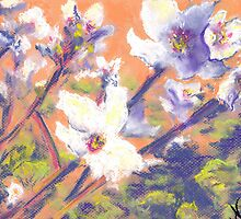 Almond Blossoms (Pastel) by Niki Hilsabeck